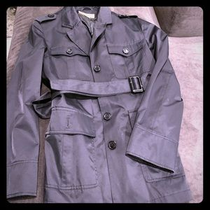 Michael by Michael Kors Black Rain Trench Coat